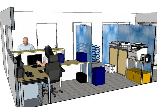 Conception et proposition d'aménagement d'un poste d'accueil et de gardiennage